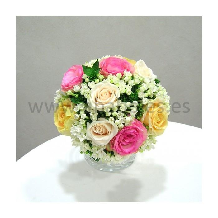 Bouquet de Rosas y Bouvardia