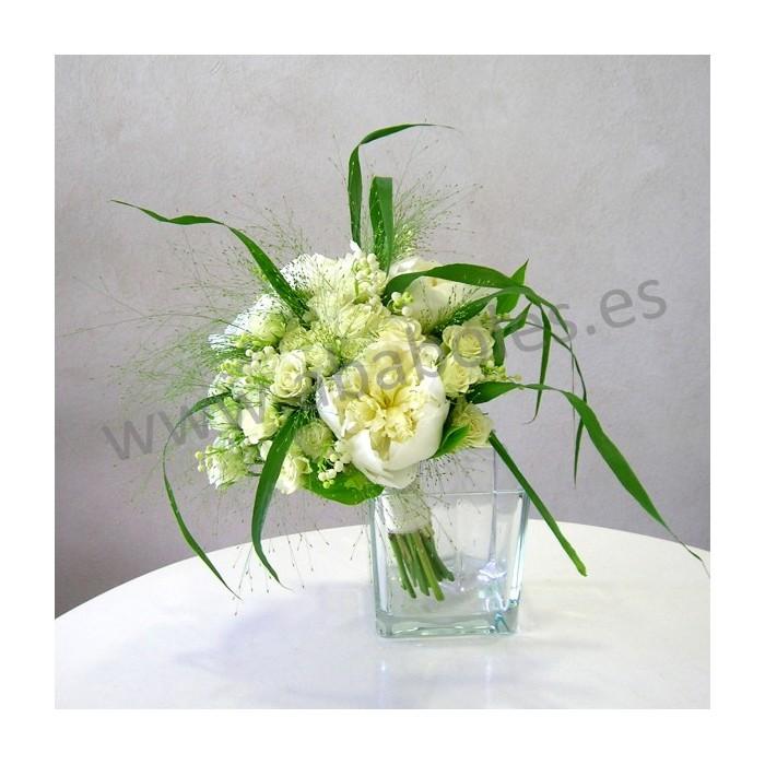 Bouquet de Peonías y Rosa Ramificada
