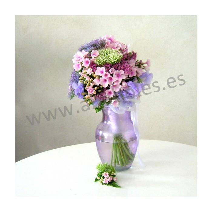 Bouquet de Phlox y Trachelium