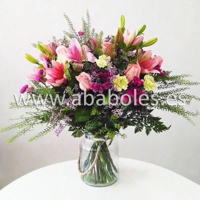 Ramo rosado con Lilium  y Rosas