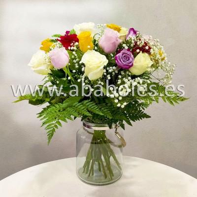 Ramo de 20 Rosas multicolor