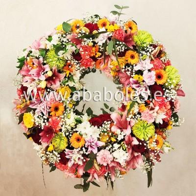 Corona Funeraria multicolor