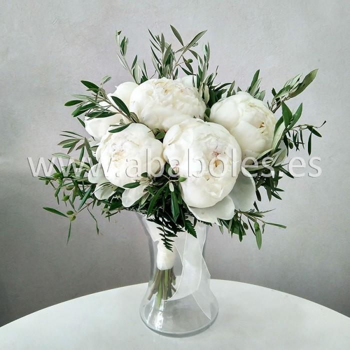 Bouquet de Peonías y Olivo