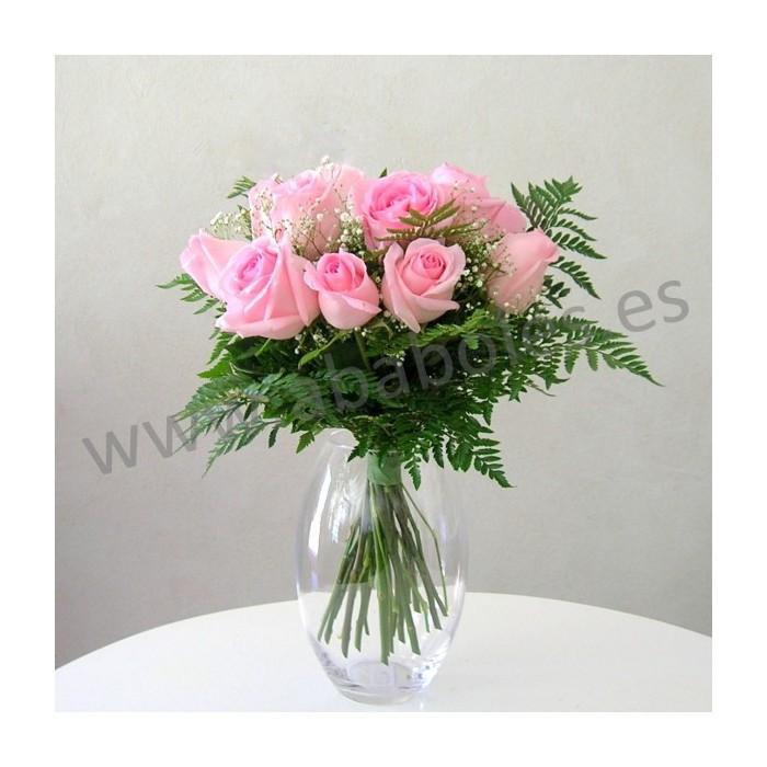 12 Rosas Rosas de tallo corto
