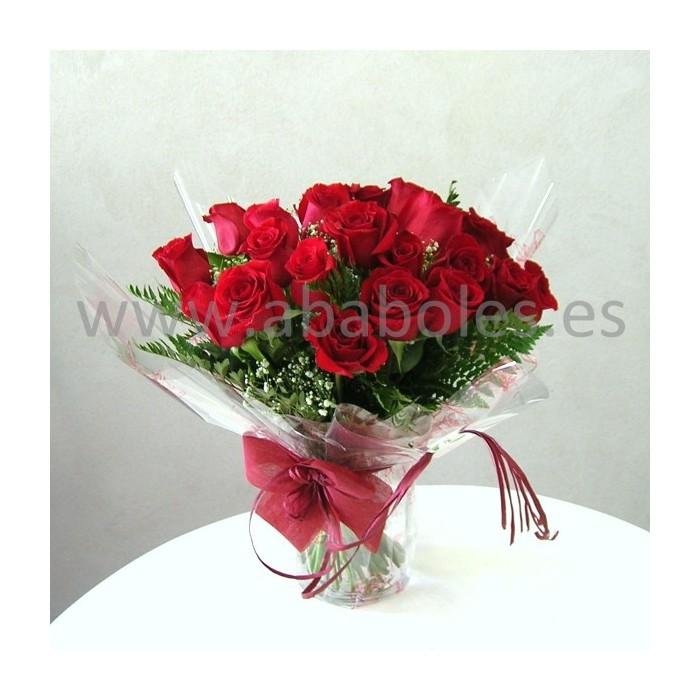 24 Rosas Rojas de tallo corto